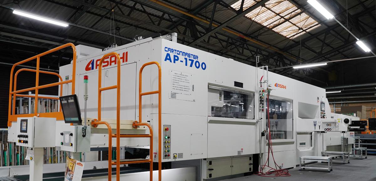 大型平盤打抜機 AP-1700高速かつ安定した給紙を実現し、より高品質生産が可能となりました